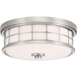 image-QZ/GUARDIAN/FPN Guardian 2 Light Bathroom Flush Ceiling Light In Brushed ickel