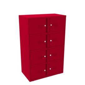 image-Essential Lodge Office Locker Anthracite 8 Door Storage Cabinet Brayden Studio Finish/Colour: Red