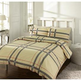 image-Lesly Duvet Cover Set Brambly Cottage Size: Double, Colour: Cream