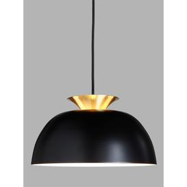 image-John Lewis & Partners Titus Easy-to-Fit Ceiling Shade, Black/Brass