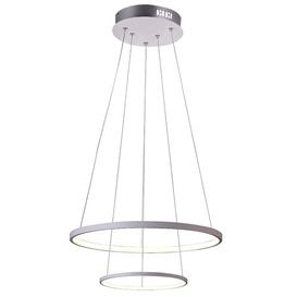 image-Montgomery 2-Light Geometric LED Pendant Willa Arlo Interiors Finish: Silver