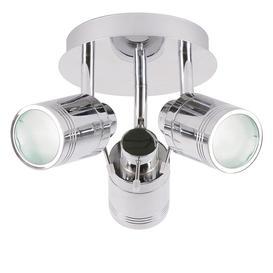 image-Hugo 3 Light Bathroom Spotlight - Chrome
