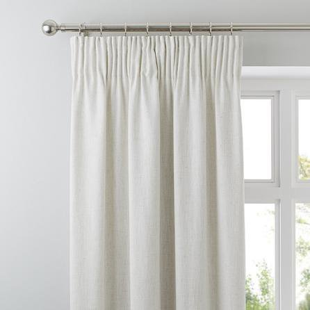 image-Purity Natural Pencil Pleat Curtains Natural