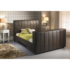 image-Emmalee Upholstered TV Bed Metro Lane Size: Super King (6'), Colour: Brown