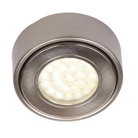 image-Circular LED Under Cabinet Light Warm White - Satin Nickel