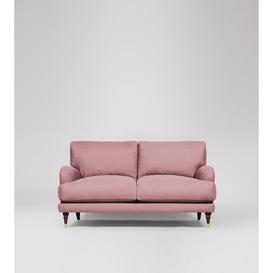image-Swoon Charlbury Two-Seater Sofa in Rose Soft Wool