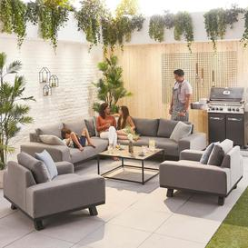 image-Nova Garden Furniture Tranquility Flanelle Fabric Corner Sofa Set with 2 Lounge Chairs