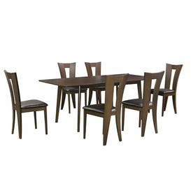 image-Edgell Extendable Dining Set with 6 Chairs ClassicLiving Colour: Brown