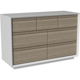 image-Corton Light Grey Painted 3 + 4 Drawer Combi Chest - Devonshire Furniture