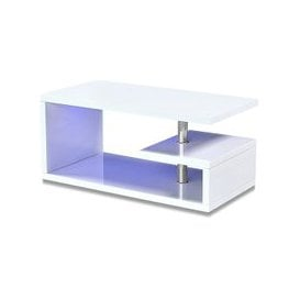 image-Astana LED Coffee Table In White High Gloss