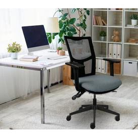 image-Kaye Mesh Desk Chair Symple Stuff Upholstery Colour: Grey