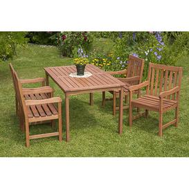 image-Bergamot 4 Seater Dining Set Dakota Fields