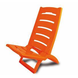 image-Peletier Folding/Reclining Beach Chair Dakota Fields Colour: Orange