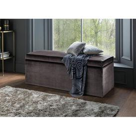 image-Storage Ottoman Canora Grey Upholstery Colour: Bronze