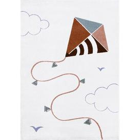 image-Kite Tufted Brown Rug Art for kids Rug Size: Rectangle 100 x 150 cm
