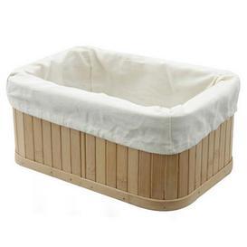 image-Woodford Rectangular Bamboo Storage Basket Natural (Brown)
