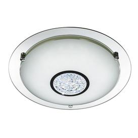 image-Searchlight 3883-31 Bathroom Flush Ceiling Light In Chrome - Dia: 320mm