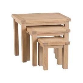 image-Monica Oak Nest Of 3 Tables