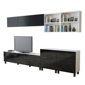 "image-Ashmore Entertainment Unit for TVs up to 70\"" Ebern Designs Colour: Black/White"