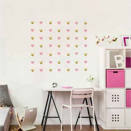 image-Hearts Wall Stickers Pink