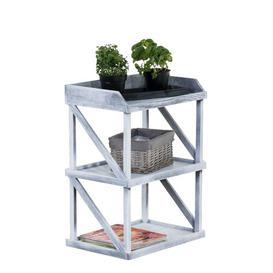 image-Makenna Plant Stand/Table Lily Manor Colour: Grey