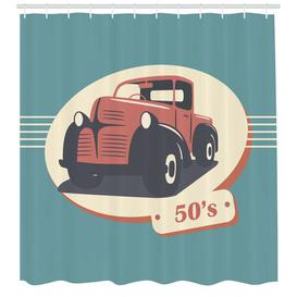 image-Car Shower Curtain East Urban Home Size: 200cm H x 175cm W