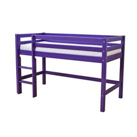 image-Basic Mid Sleeper Bed Hoppekids Bed Size: 70 x 160 cm, Bed Frame Colour: Purple