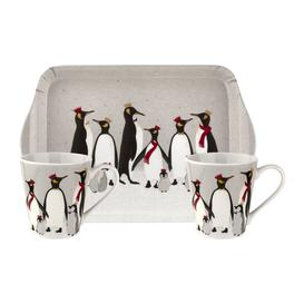 image-Sara Miller - Christmas Penguin Mug and Tray Set