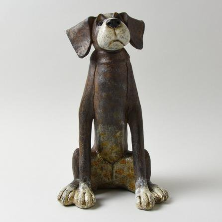 image-Floppy Eared Brown Dog Ornament Brown