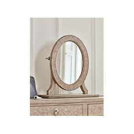 image-Geometric Parquet Dressing Table Mirror