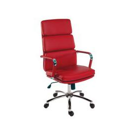image-Deco Retro Eames Style Executive Office Chair In Red