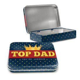image-Top Dad Daddy Pops Father Crown Metal for Him Decorative Box