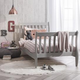 image-Single Bed Sleigh Frame Astrid in Grey