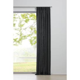 image-Chalet Pencil Pleat Room Darkening Curtain My Deco Colour: Charcoal