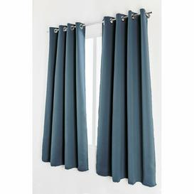 image-Permelia Eyelet Blackout Curtains Brayden Studio Colour: Green