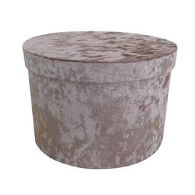 image-Blush Velvet Storage Box Blush