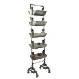 image-Metal Basket Shelving Unit