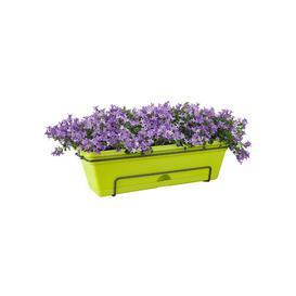 image-Plastic Balcony Planter ELHO Colour: Lime Green, Size: 16.7cm H x 47.3cm W x 25.7cm D