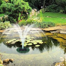 image-Sunfountain Seerose Solar Pond Fountain with Light Blumfeldt