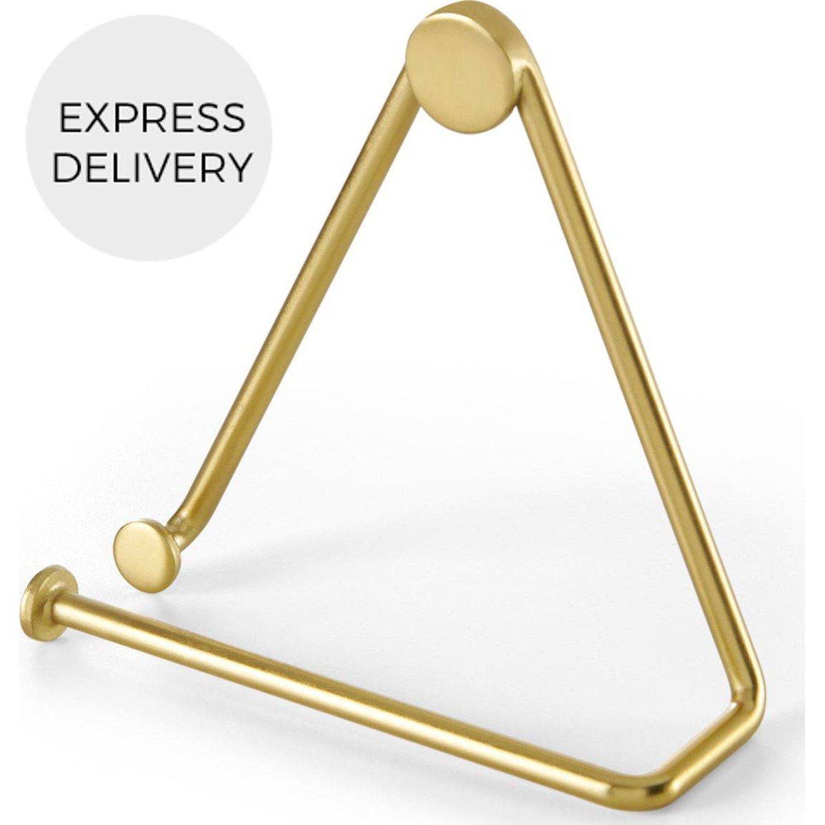 image-Bran Toilet Roll Holder, Brushed Brass