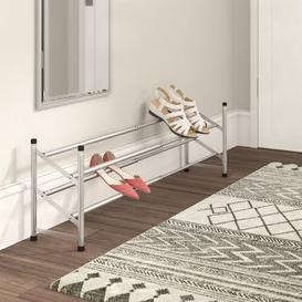 image-Chrome 2-Tier Extendable 16 Pair Shoe Rack Wayfair BasicsΓäó