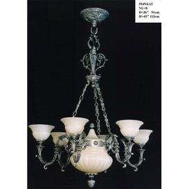 image-Cowie 8-Light Shaded Chandelier Astoria Grand Finish: Antique Silver