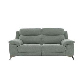 image-Missouri 3 Seater Fabric Power Recliner Sofa - Green