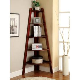 image-Pierview Corner Bookcase Beachcrest Home Colour: Cherry