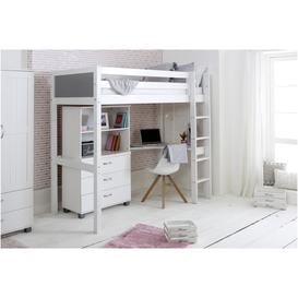 image-Nordic High sleeper 4 with corner desk, chest and bookcase (colour panels)