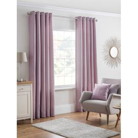 image-Genaro Eyelet Semi Sheer Curtain Brambly Cottage Colour: Heather, Size per Panel: 229 W x 183 D cm