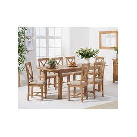 image-Nelly 160cm Extending Table with Cross Back Chairs