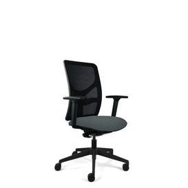 image-Bette Ergonomic Mesh Desk Chair Symple Stuff Frame Colour: Black, Upholstery Colour: Grey