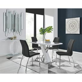 image-Townley Dining Set with 4 Chairs Metro Lane Colour (Chair): Black