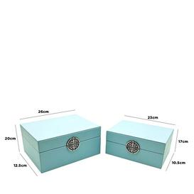 image-2 Piece Jewellery Box Set Fairmont Park Finish: Blue